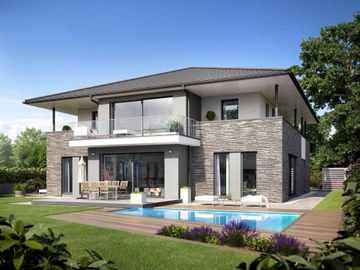 stadtvilla bauen h user anbieter und preise vergleichen. Black Bedroom Furniture Sets. Home Design Ideas
