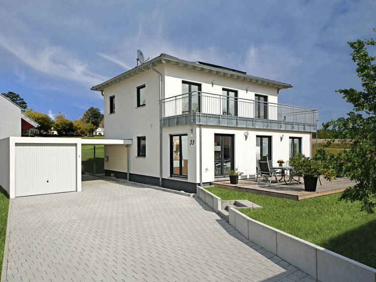 Haus Haase Fertighaus Weiss