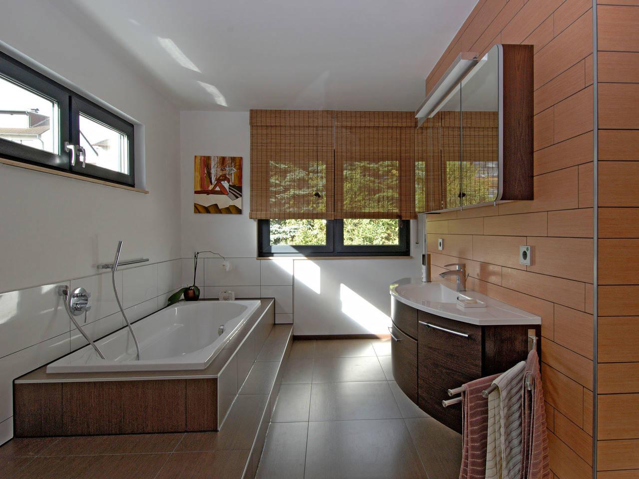 Haus Becker Fertighaus Weiss Badezimmer