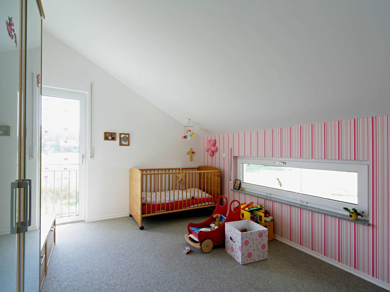 Haus Geiger Fertighaus Weiss Kinderzimmer