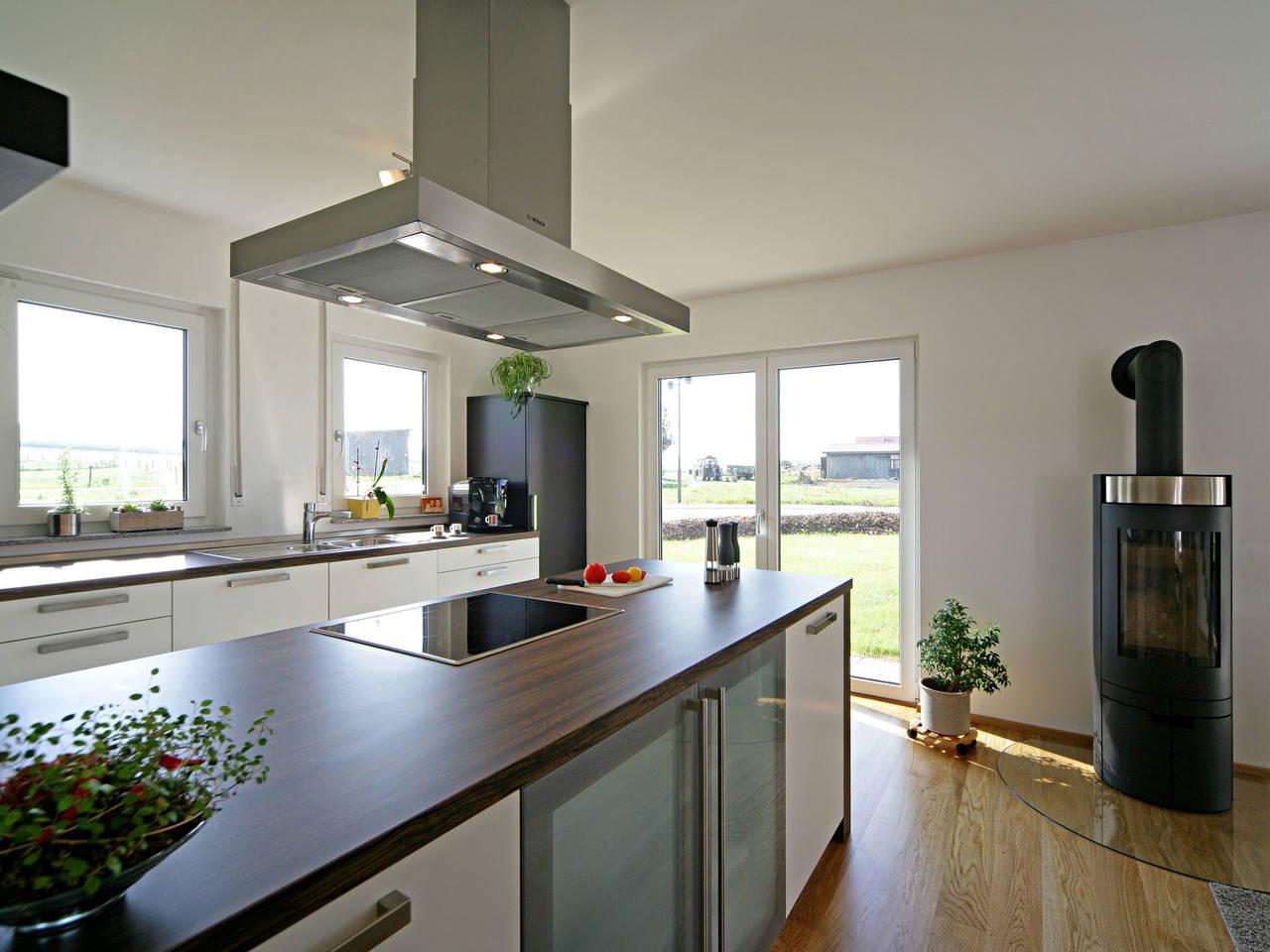 Haus Geiger Fertighaus Weiss Küche