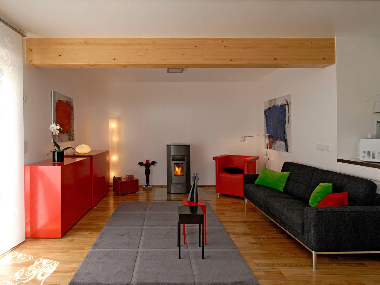 Haus Dorstewitz Fertighaus Weiss Wohnzimmer