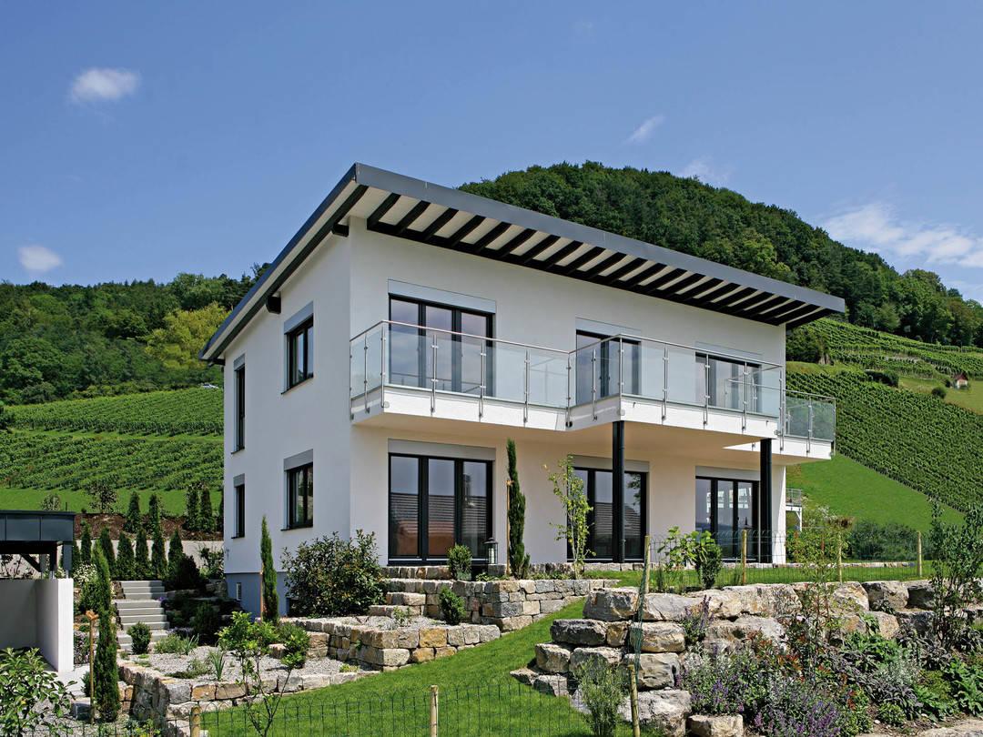 Pultdachhaus munk fertighaus weiss for Haus bauen pultdach
