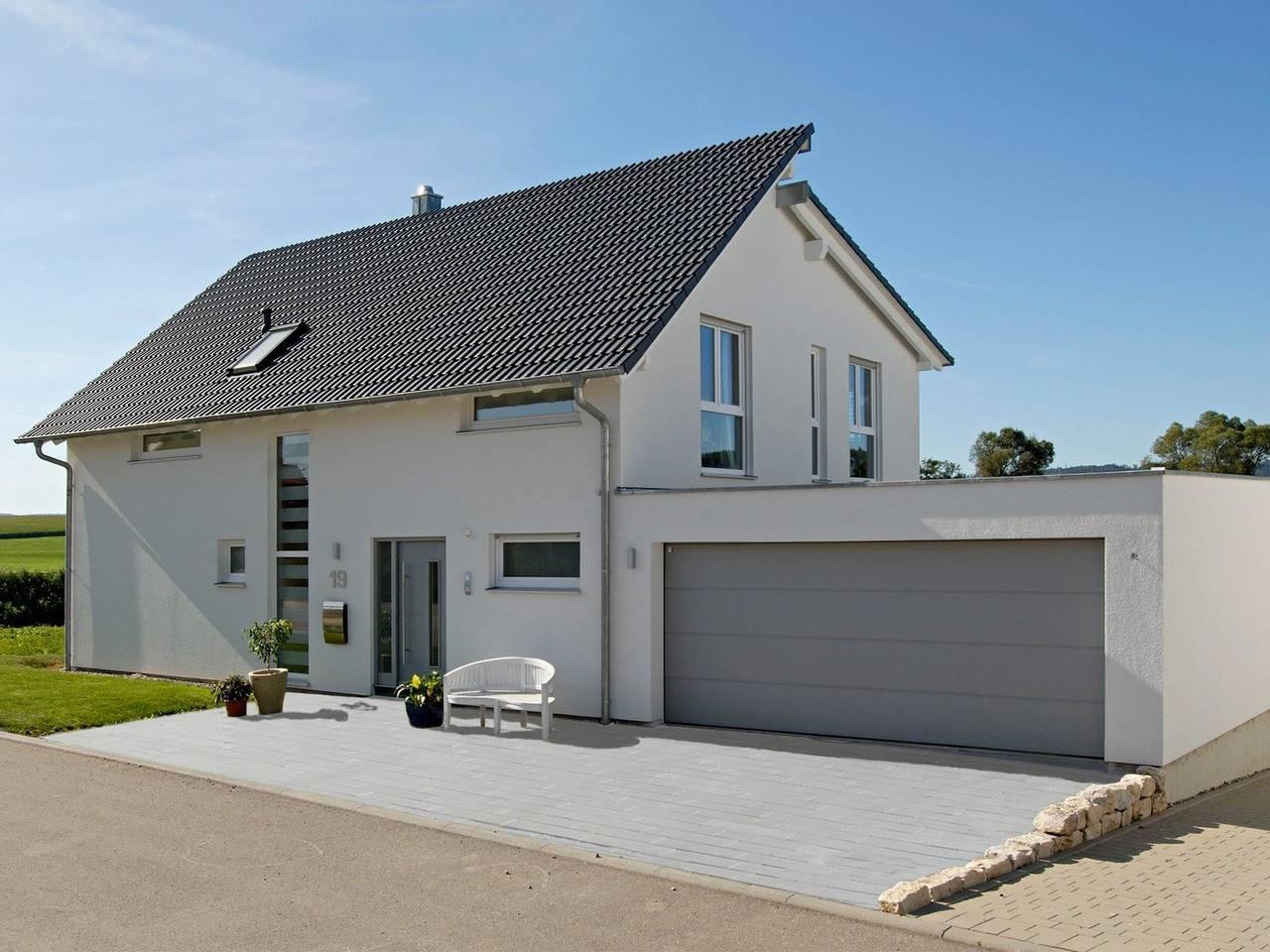 Haus Bauer Fertighaus Weiss