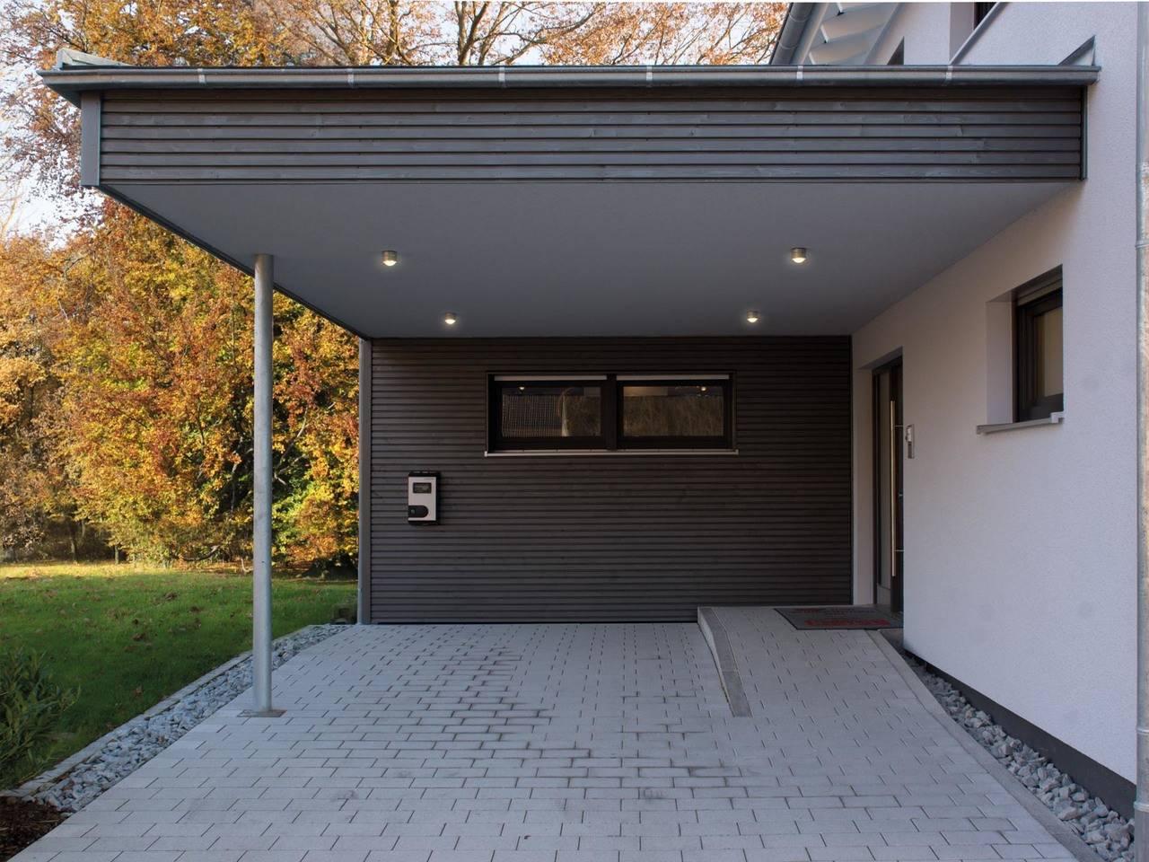 Musterhaus Ulm Fertighaus Weiss Carport