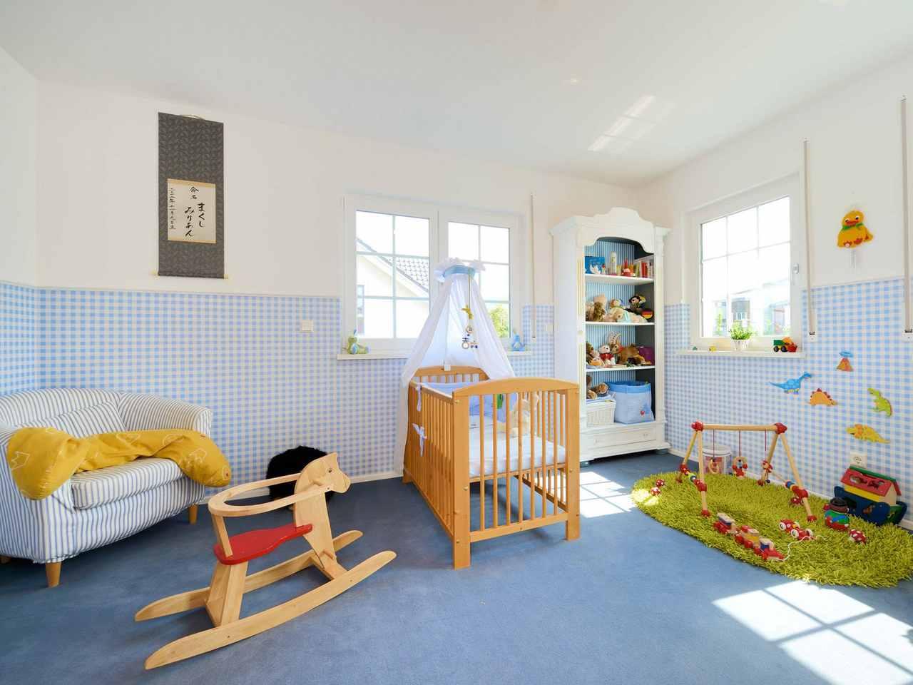 Haus Winter Kinderzimmer Jungs Fertighaus Weiss