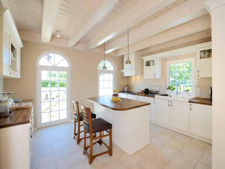 Haus Winter Küche Fertighaus Weiss