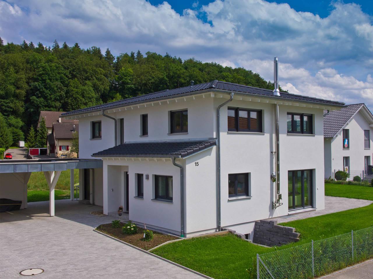 Fertighaus Weiss Stadtvilla Studer