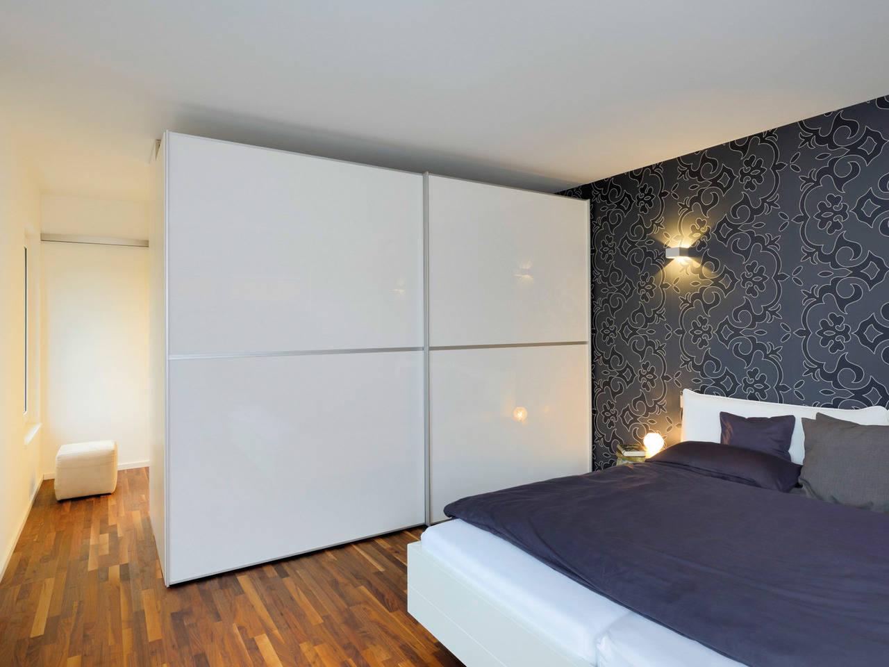 Fertighaus Weiss Bauhaus Hirsch Schlafzimmer