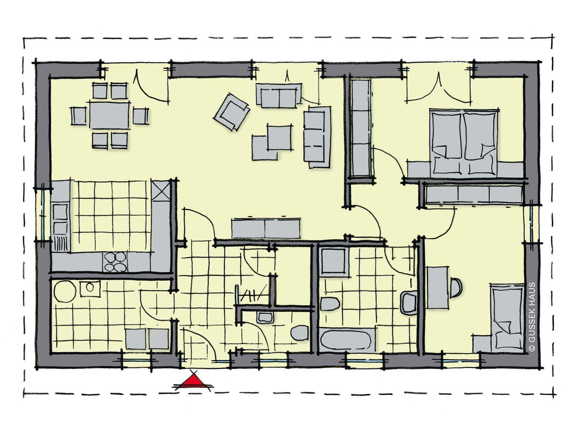 bungalow dordogne gussek haus. Black Bedroom Furniture Sets. Home Design Ideas