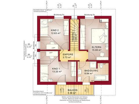 Bien-Zenker Evolution 116 V2 Einfamilienhaus Grundriss DG