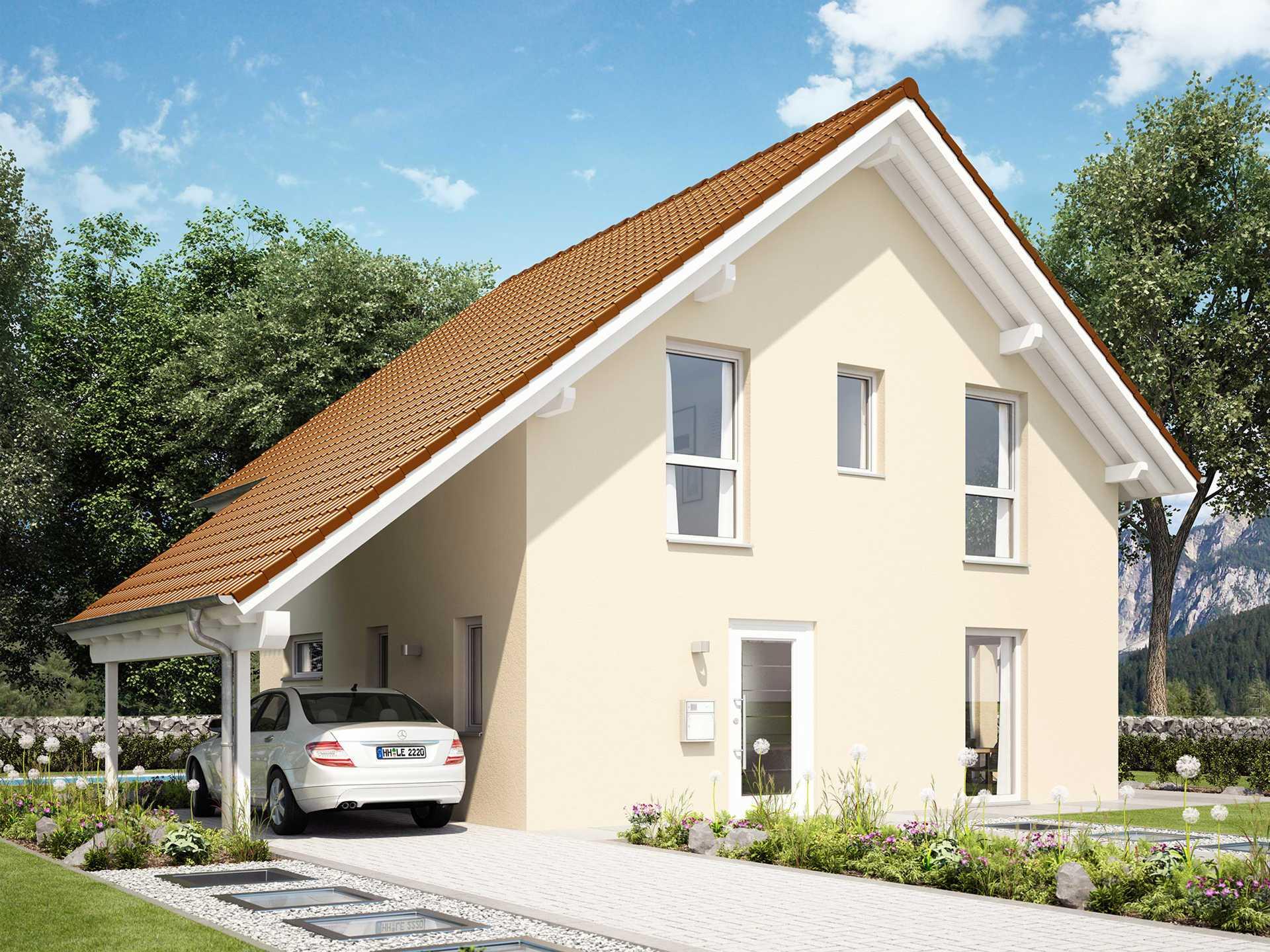 Einfamilienhaus evolution 116 v8 bien zenker for Modernes haus mit carport