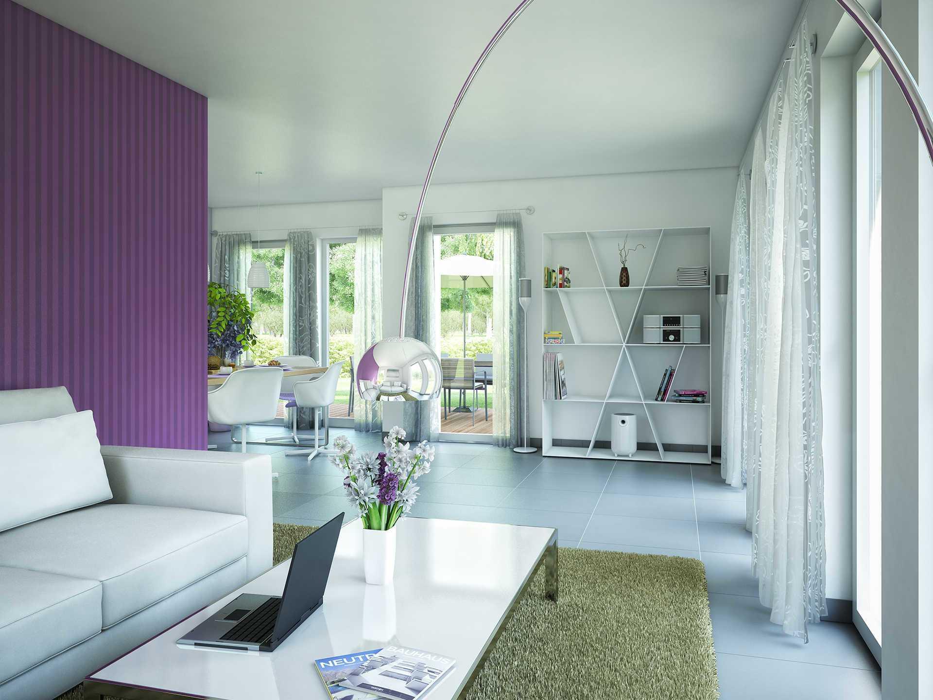 Bien-Zenker Evolution 116 V8 Einfamilienhaus Wohnzimmer