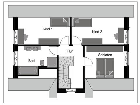 Fuchs Baugesellschaft Friesenhaus FH 130 Grundriss DG