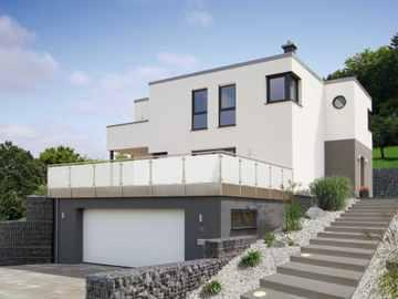 Kubus haus bauhausstil beispielh user anbieter in for Hausformen einfamilienhaus