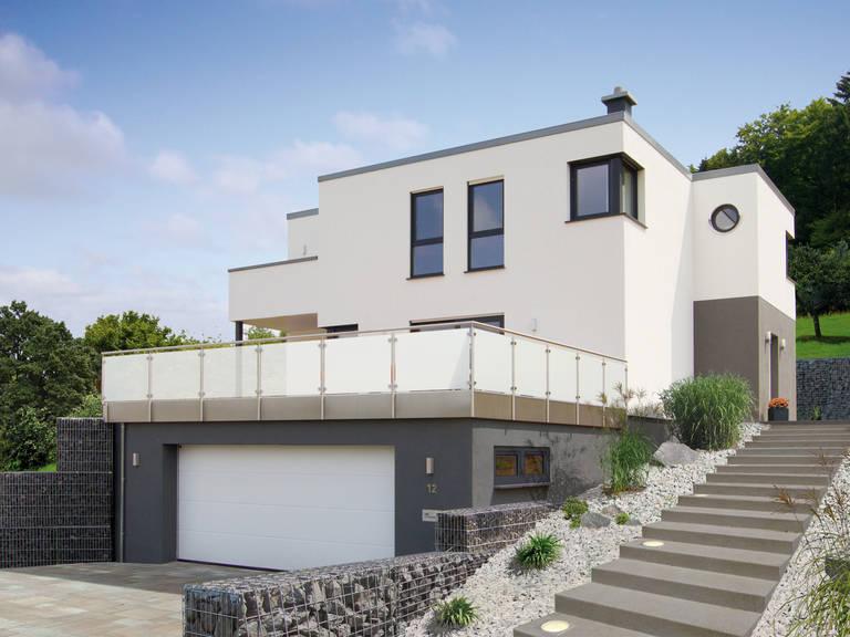 Fingerhut Haus Kubus Haus Ligno mit Hanglage