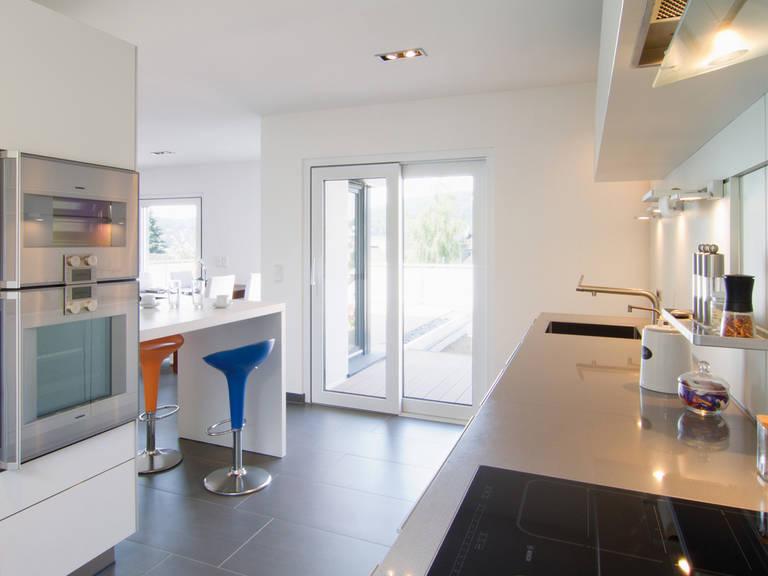 Kubus Haus Ligno - Fingerhut Haus Offene Küche