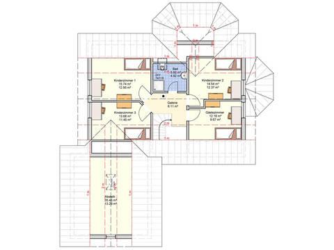 Fingerhut Haus Einfamilienhaus Sentempa Grundriss DG