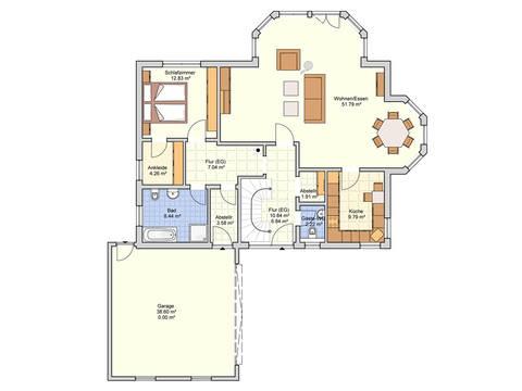 Fingerhut Haus Einfamilienhaus Sentempa Grundriss EG