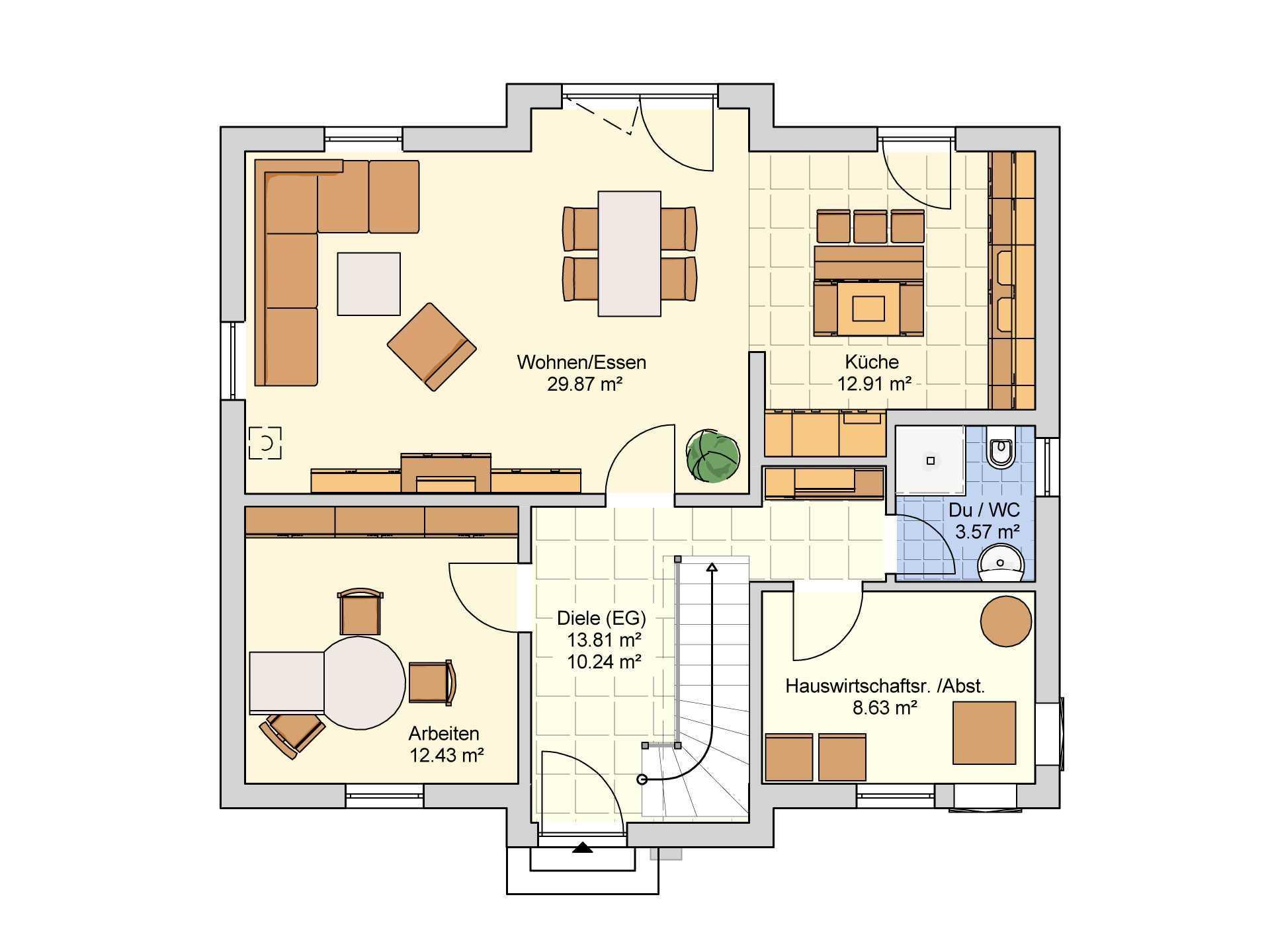 Einfamilienhaus bielefeld fingerhut haus for Muster grundrisse haus