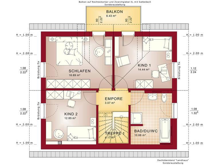 Edition 1 V7 – Einfamilienhaus Grundriss DG