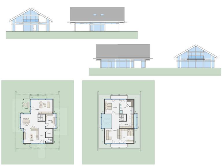 HUF Haus ART 4 Projektbeispiel 1 Grundriss