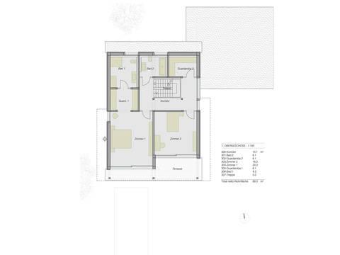 HUF Haus ART Flachdach Grundriss OG