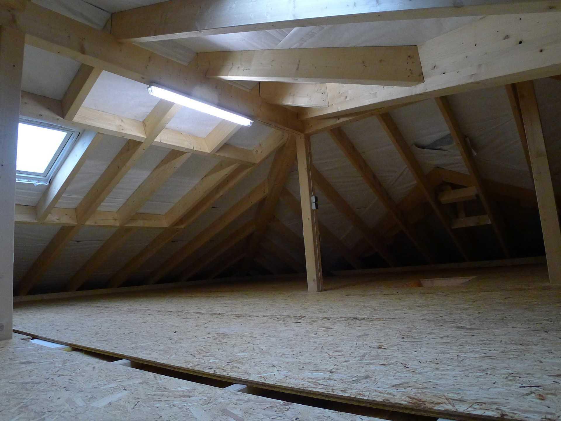 Dachboden im HSE Musterhaus