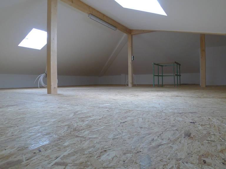 Dachboden Ansicht 2 im HSE Musterhaus