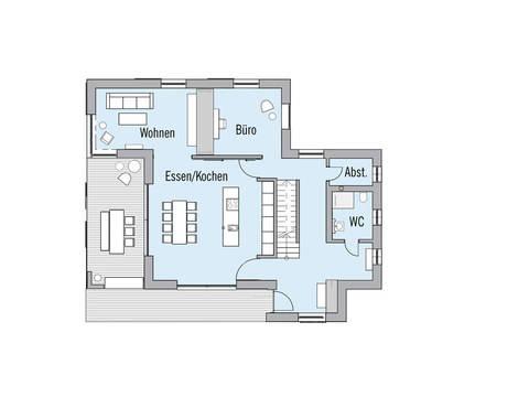 Musterhaus NaturDesign Köln Baufritz Grundriss EG