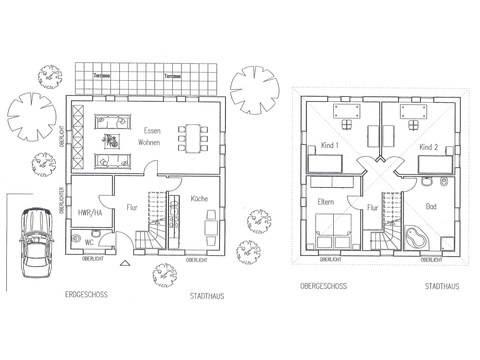 Flagmeier Haus Stadthaus 130 Grundriss