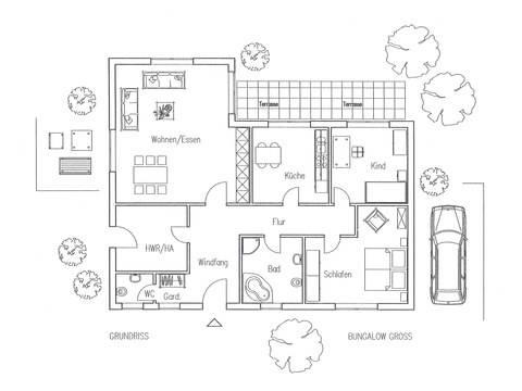 Bungalow 130 Grundriss von Flagmeier Haus