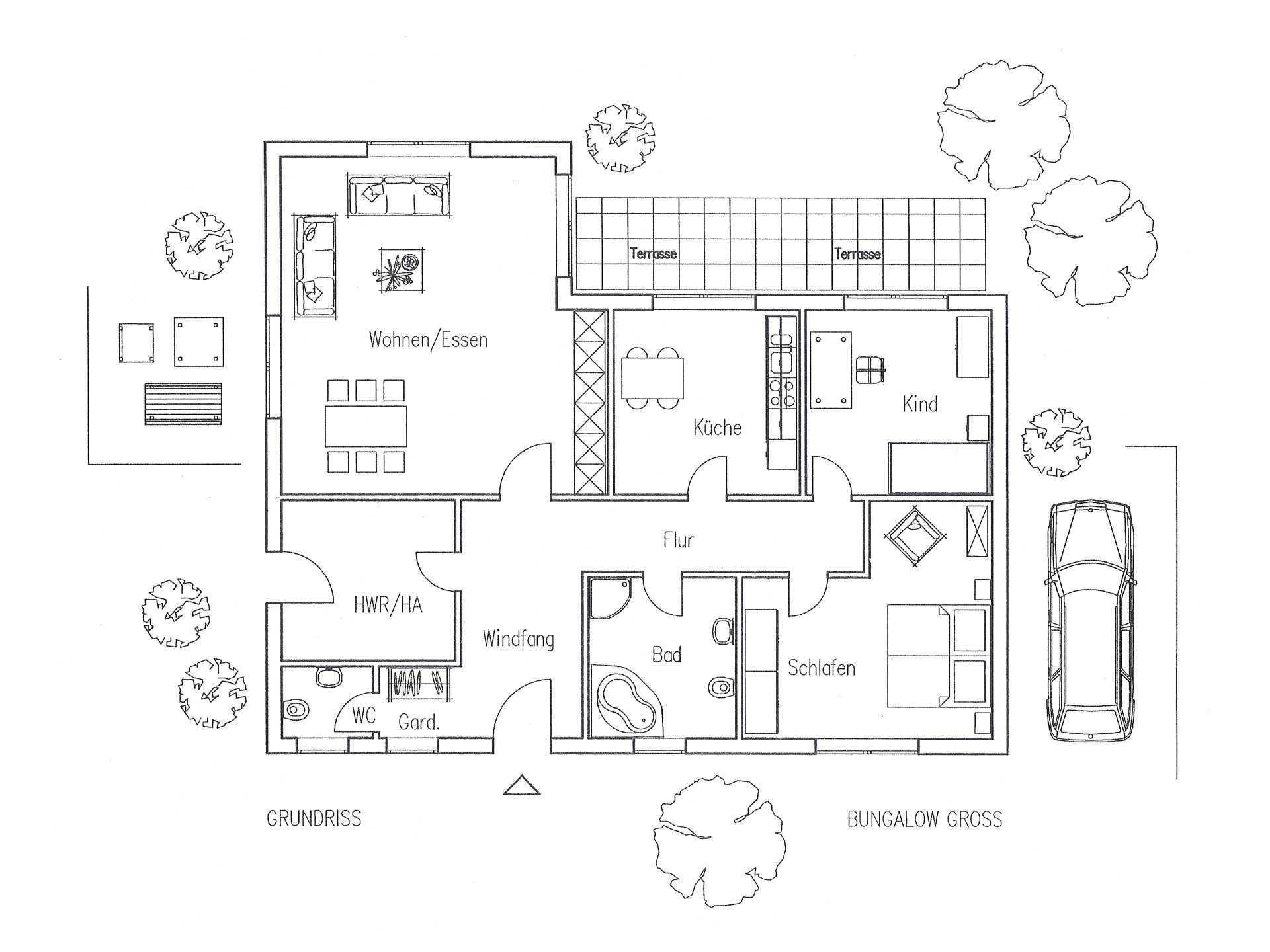 Bungalow 130 mit Walmdach - Flagmeier Haus