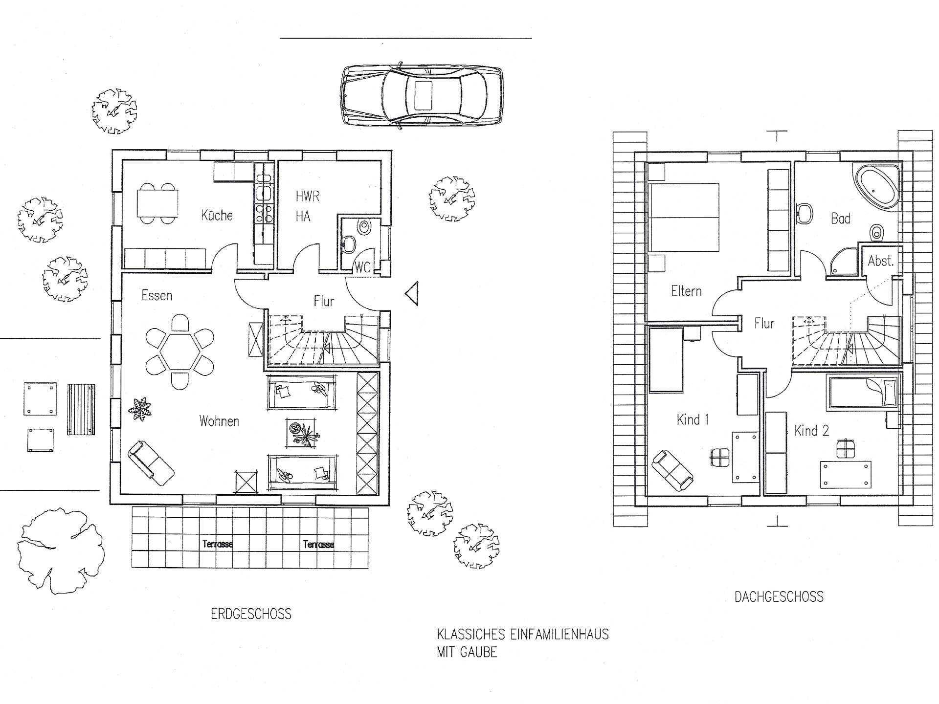 Landhaus 128 Grundriss von Flagmeier Haus