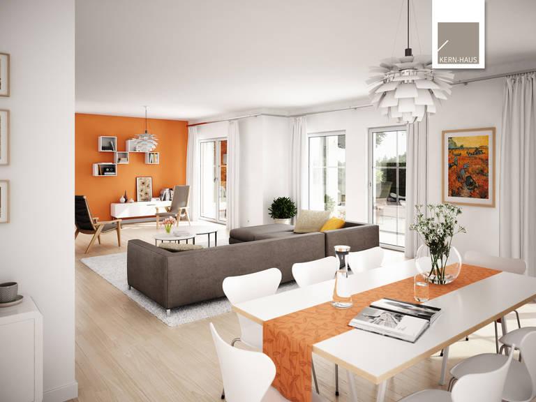 Wohn- und Essbereich Stadtvilla Aurelio von Kern-Haus