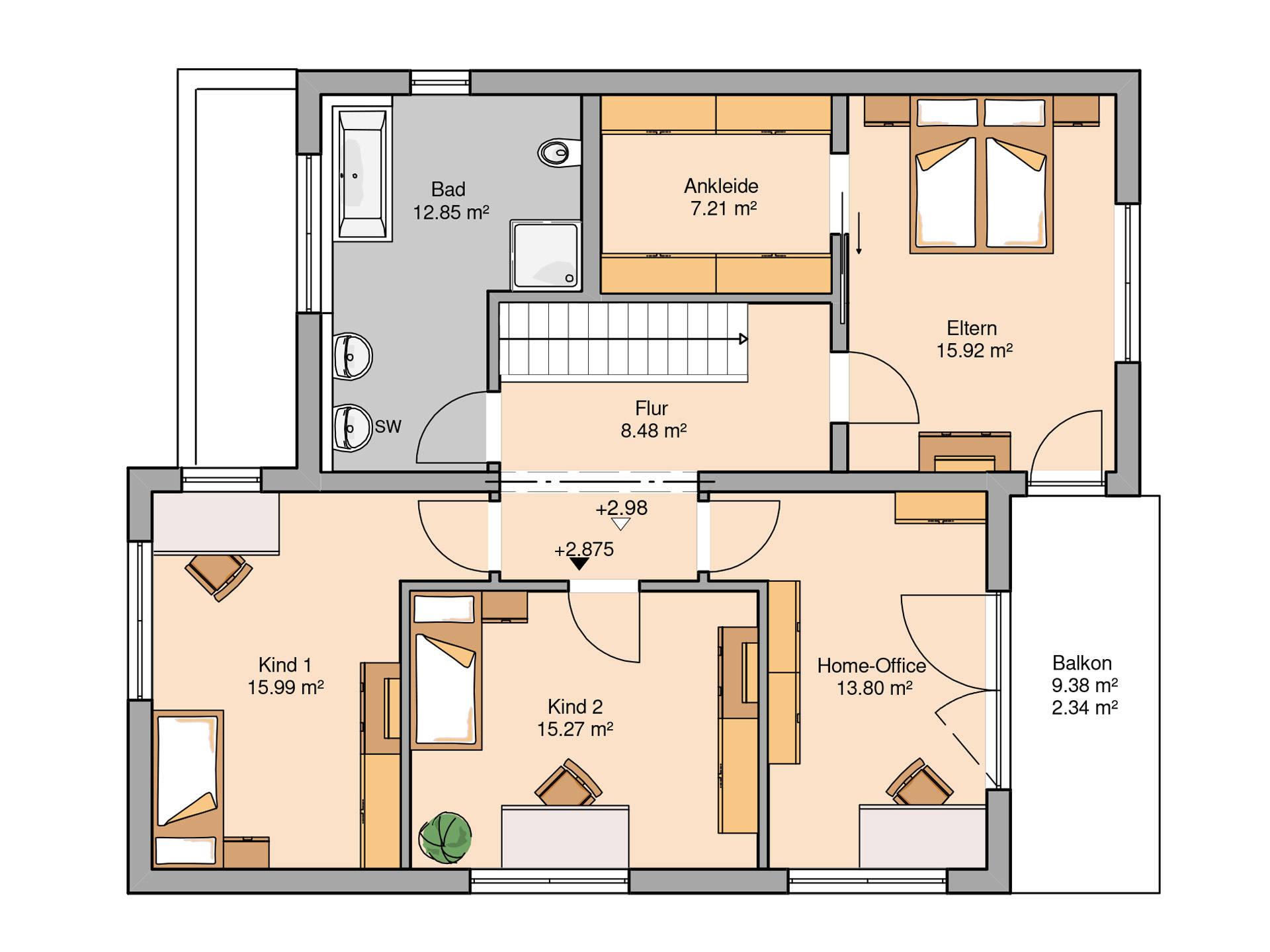 Bauhaus futura kern haus for Bauhaus einfamilienhaus grundriss