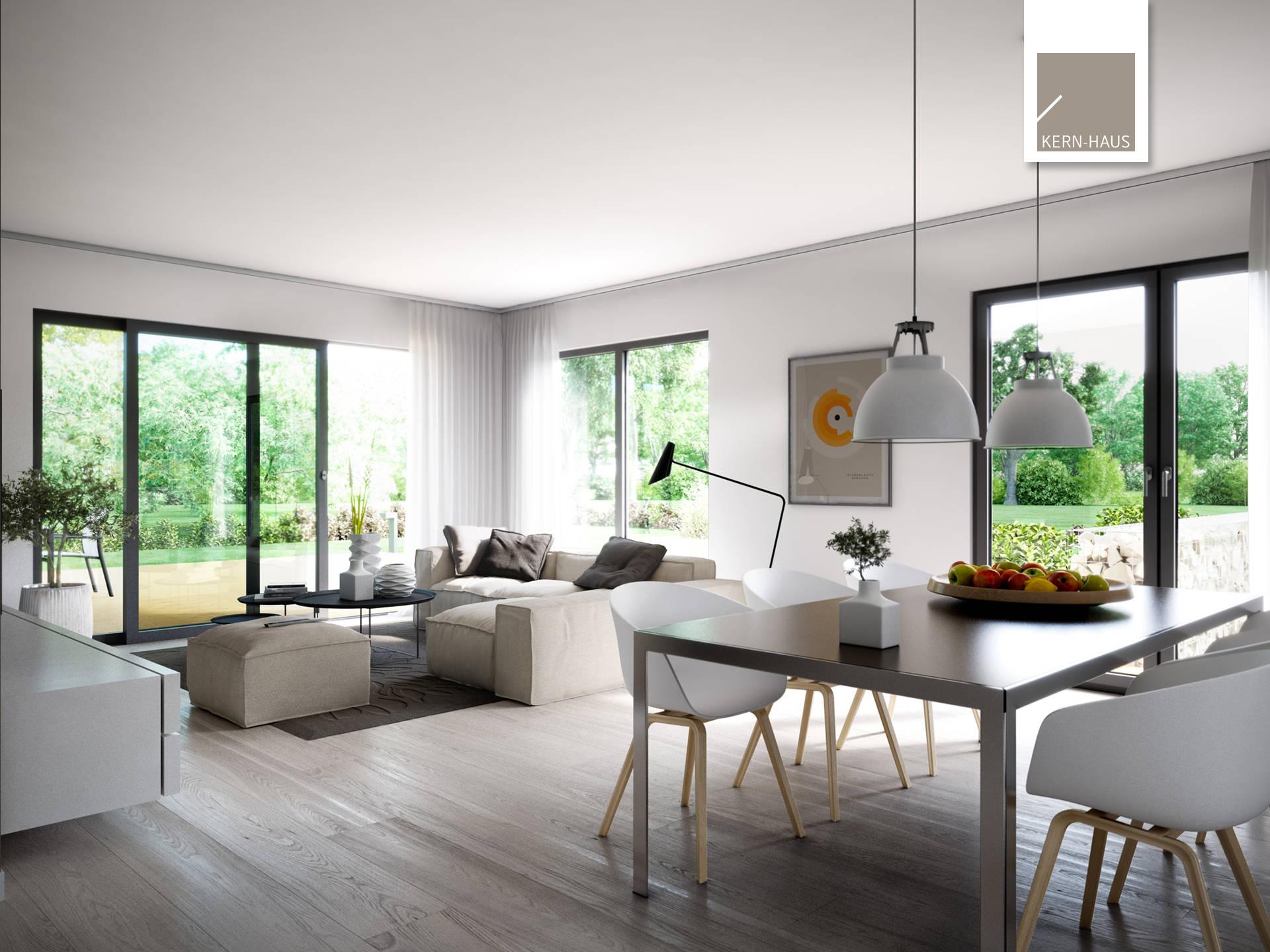 Wohn  Und Essbereich Im Designerhaus
