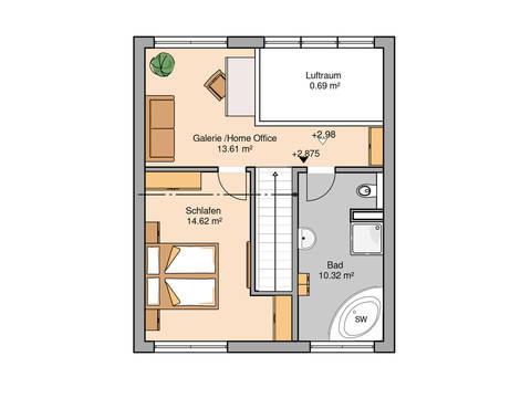 Single- und Paarhaus Fun von Kern-Haus Grundriss DG