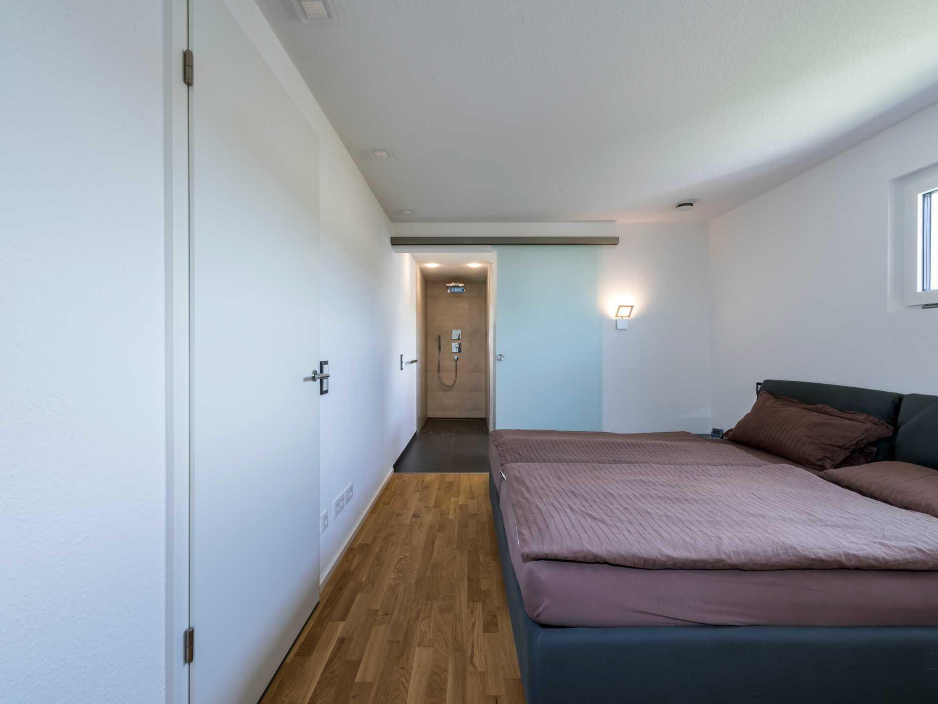 Schlafzimmer Mit Offener Dusche
