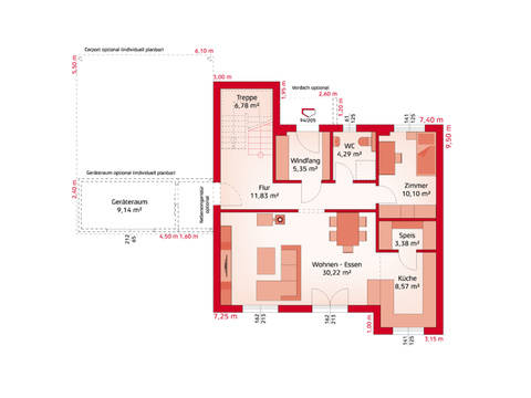 HARTL Haus Typenhaus Liberty 158 P Grundriss EG