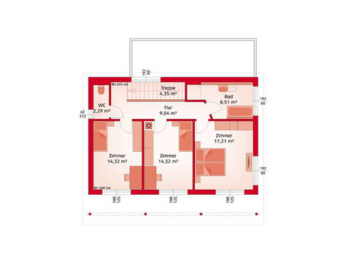 HARTL Haus Typenhaus Liberty 153 P Grundriss OG