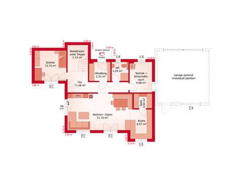 HARTL Haus Typenhaus Liberty 171 P Grundriss EG