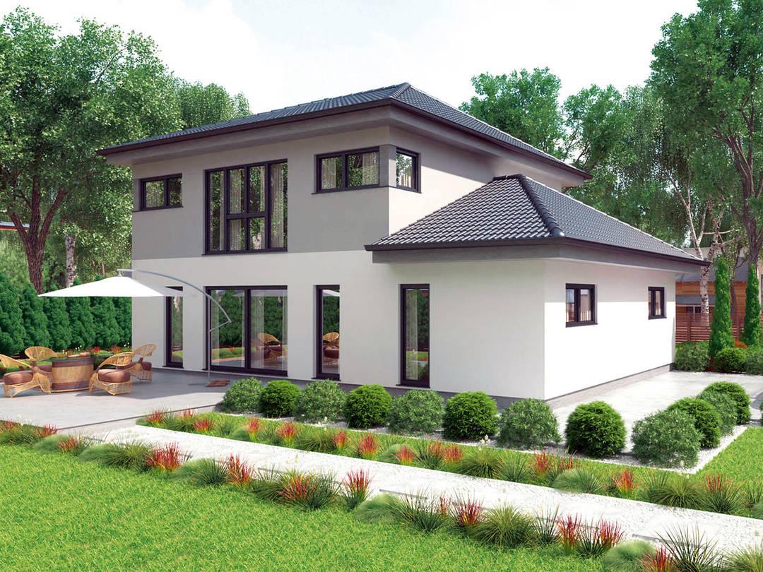typenhaus comfort 190 w hartl haus holzindustrie. Black Bedroom Furniture Sets. Home Design Ideas