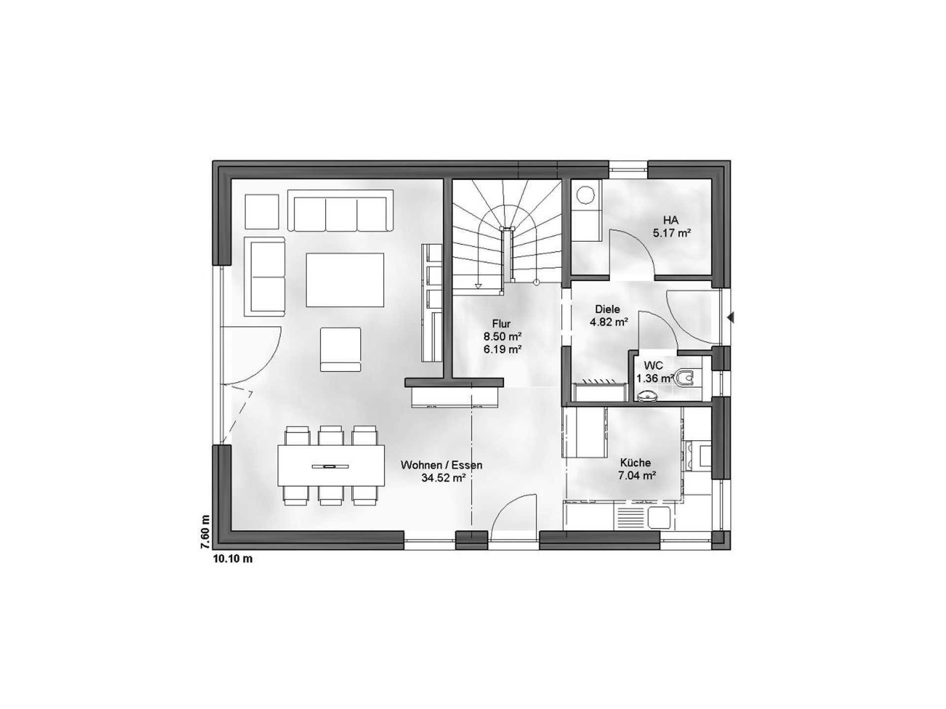 Massive Wohnbau Einfamilienhaus Vanessa Grundriss EG