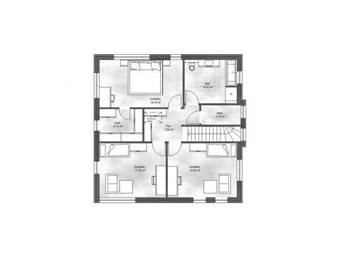 Massive Wohnbau Stadtvilla 2 Grundriss DG
