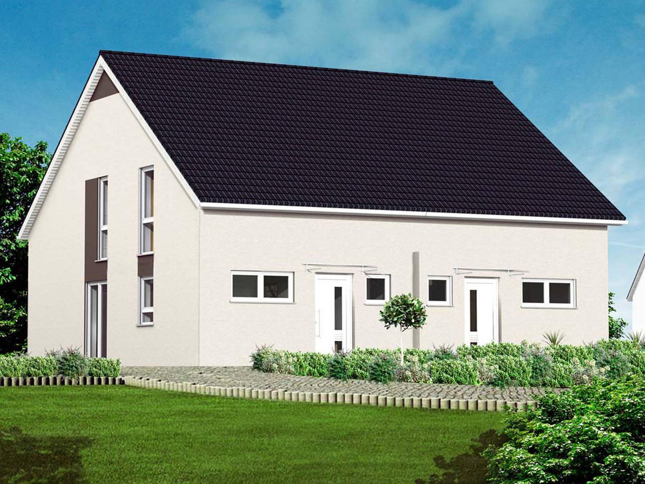 Massive Wohnbau Doppelhaus 6