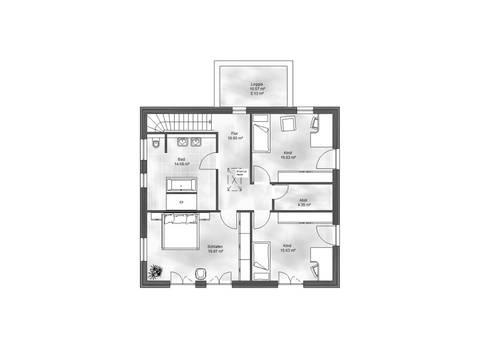 Massive Wohnbau Stadtvilla 1 Grundriss DG