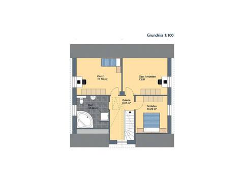 Virtus Projektbau Friesenhaus V140 Grundriss DG