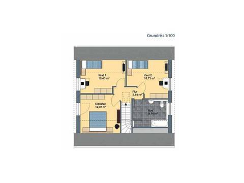 Virtus Projektbau Einfamilienhaus V125 Grundriss DG