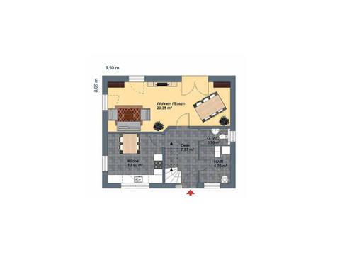 Virtus Projektbau Einfamilienhaus V125 Grundriss EG
